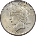 Peace Dollars, 1928-S $1 MS65 PCGS Secure....