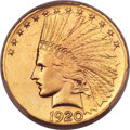 Indian Eagles, 1920-S $10 -- Cleaning -- PCGS Genuine. AU Details....