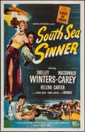 "Movie Posters:Adventure, South Sea Sinner (Universal International, 1950). One Sheet (27"" X41""). Adventure.. ..."