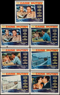 """Movie Posters:War, The Caine Mutiny (Columbia, 1954). Lobby Cards (7) (11"""" X 14"""").War.. ... (Total: 7 Items)"""