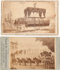 Photography:CDVs, Abraham Lincoln: Funeral Car or Hearse CDV's. ... (Total: 2 Items)