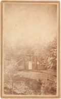 Photography:CDVs, Abraham Lincoln: CDV of Temporary Tomb....