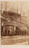 Photography:CDVs, Abraham Lincoln: Rare View of Receiving Vault at Oak Ridge. ...