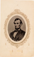 Photography:Tintypes, Abraham Lincoln: Sixteenth Plate Tintype. ...