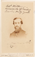 Photography:CDVs, [Abraham Lincoln]: CDV of Commander of Lincoln Body Guard. ...