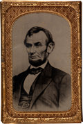 Photography:Tintypes, Abraham Lincoln: Sixth Plate Tintype. ...