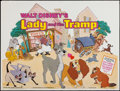 "Movie Posters:Animation, Lady and the Tramp (Buena Vista, R-1984). British Quad (30"" X 40"").Animation.. ..."