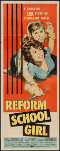 "Movie Posters:Bad Girl, Reform School Girl (American International, 1957). Insert (14"" X36""). Bad Girl.. ..."
