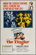 """Movie Posters:Horror, The Tingler (Columbia, 1959). One Sheet (27"""" X 41""""). Horror.. ..."""