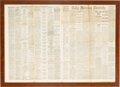 Political:3D & Other Display (pre-1896), Lincoln Assassination: Washington, D.C. Newspaper Announcing theAssassination....