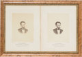 Photography:Cabinet Photos, Abraham Lincoln: Pair of Warren Albumen Photographs. ...