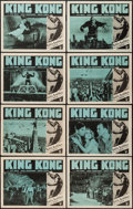 "Movie Posters:Horror, King Kong (RKO, R-1952). Lobby Card Set of 8 (11"" X 14""). Horror..... (Total: 8 Items)"