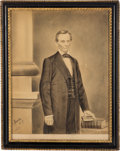 Political:3D & Other Display (pre-1896), Abraham Lincoln: Hand-Drawn Artwork of the Cooper Union Portrait. ...