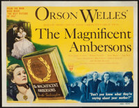 "The Magnificent Ambersons (RKO, 1942). Title Lobby Card (11"" X 14""). Drama"