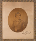 Photography:Studio Portraits, Edwin Booth: Signed Presentation Photo....