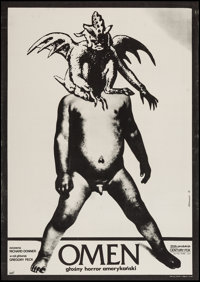 "The Omen (20th Century Fox, 1977). Polish One Sheet (26.5"" X 37.5""). Horror"