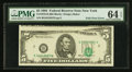 Error Notes:Foldovers, Fr. 1978-B $5 1985 Federal Reserve Note. PMG Choice Uncirculated 64EPQ.. ...