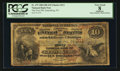 National Bank Notes:Pennsylvania, Gettysburg, PA - $10 1882 Brown Back Fr. 479 The First NB Ch. #311. ...