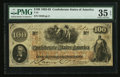 "Confederate Notes:1862 Issues, Manuscript Endorsement ""Edgar Miller"" T41 $100 1862 PF-22 Cr.320A.. ..."