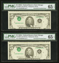 Error Notes:Inverted Third Printings, Fr. 1980-G $5 1988A Federal Reserve Notes. Two Examples. PMG GemUncirculated 65 EPQ.. ... (Total: 2 notes)