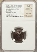 Ancients:Greek, Ancients: CARIA. Rhodos. Rhodes. Ca. 316-304 BC. AR didrachm (6.76gm)....