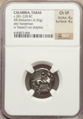 Ancients:Greek, Ancients: CALABRIA. Tarentum. Ca. 272-240 BC. AR didrachm (6.56gm)....