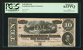 Confederate Notes:1864 Issues, T68 $10 1864 PF-16 Cr. 545A.. ...