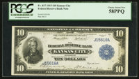 Fr. 817 $10 1915 Federal Reserve Bank Note PCGS Choice About New 58PPQ