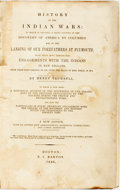 Books:Americana & American History, [Native American]. Henry Trumbull. History of the Indian Wars,et al. Boston: N.C. Barton, 1846. New edition. ...