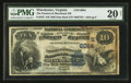 National Bank Notes:Virginia, Winchester, VA - $10 1882 Date Back Fr. 545 The Farmers &Merchants NB Ch. # (S)6084. ...