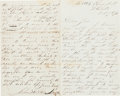 Autographs:Celebrities, John Wilkes Booth: Autographed Letter Signed. ...