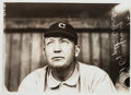 Baseball Collectibles:Photos, Circa 1909 Cy Young Photograph by Paul Thompson, PSA/DNA Type 1....