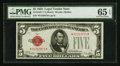 Small Size:Legal Tender Notes, Fr. 1525* $5 1928 Legal Tender Note. PMG Gem Uncirculated 65 EPQ.. ...