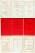 Books:Periodicals, Seventy-Seven Copies of Past & Present; a Journal of Historical Studies, Nos. 1-78 (lacking No. 65), February 1952...