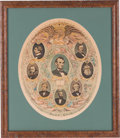 Political:Posters & Broadsides (1896-present), Abraham Lincoln and His Cabinet: Color Print or Poster. ...