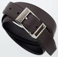 "Luxury Accessories:Accessories, Salvatore Ferragamo Brown & Black Leather Reversible Belt.Very Good Condition. 1"" Width x 46"" Length. ..."