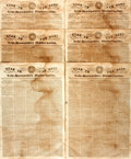 Miscellaneous:Newspaper, [Texas Revolution]. Newspaper: Six Copies of Star in the Eastand New-Hampshire Universalist.... (Total: 6 Items)