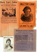 Miscellaneous:Ephemera, [Uncle Tom's Cabin]. Group of Four Promotional Items Relating toVarious Productions of Uncle Tom's Cabin. ... (Total: 3Items)