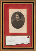 Autographs:U.S. Presidents, Mary Todd Lincoln: Signed Legal Document. ...