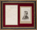 Autographs:Statesmen, William Henry Seward: 1863 Letter Written to the President. ...