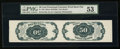 Fractional Currency:Fifth Issue, Fr. 1381 50¢ Fifth Issue Tete-Beche Horizontal Pair PMG AboutUncirculated 53.. ...