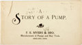 Books:Americana & American History, [Americana]. [Advertisement]. A Story of a Pump. Ashland: F.E. Myers & Brother, [n.d.]. ...