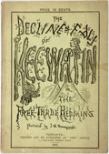 """Books:Fiction, J. W. Bengough, illustrator. The Decline and Fall of Keewatin;or, the Free-Trade Redskins. A Satire. Toronto: """"Grip..."""