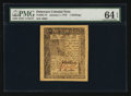 Colonial Notes:Delaware, Delaware January 1, 1776 1s PMG Choice Uncirculated 64 EPQ.. ...