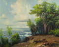 Paintings, A.D. GREER (American, 1904-1998). Texas River Overlook. Oil on canvas. 16 x 20 inches (40.6 x 50.8 cm). Signed lower rig...