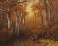 Texas:Early Texas Art - Impressionists, A.D. GREER (American, 1904-1998). Autumn Creek Bed, 1980.Oil on canvas. 24 x 30 inches (61.0 x 76.2 cm). Signed and dat...