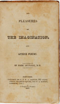 Books:Literature Pre-1900, Mark Akenside. The Pleasures of the Imagination and OtherPoems. New York: R. & W. A. Bartow, 1819. ...