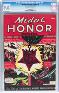 Golden Age (1938-1955):War, Medal Of Honor Comics #1 (Curtis, 1946) CGC VF/NM 9.0 Off-white towhite pages....