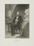 Books:Prints & Leaves, [Slavery]. Alonzo Chappel. Engraving from His Painting of Abraham Lincoln. 1862. ...