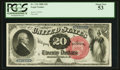 Large Size:Legal Tender Notes, Fr. 134 $20 1880 Legal Tender PCGS About New 53.. ...